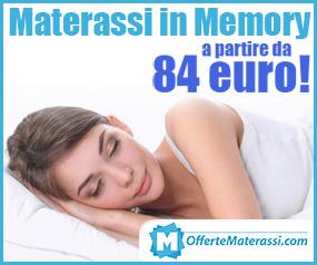 materassi in memory in offerta online